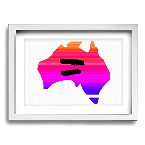 - CLLSHOME 12x16 Inches Wall Decor Toilet Bathroom Framed Art Print Picture Equality Australia Camo Wall Art for Home Decorations