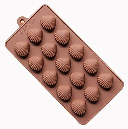 Tablar DIY Silicona para Hornear Estable 15 Agujeros Ronda de Silicona Molde de Chocolate Jalea Pudín