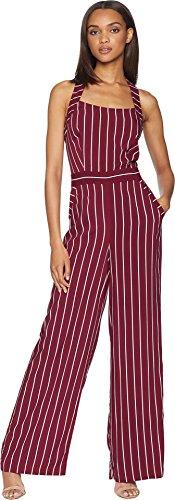 Juicy Couture Women's Cindy Stripe Jumpsuit Bordeaux Cindy Stripe 0