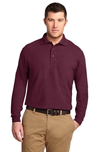 Port Authority Mens Long Sleeve Silk Touch Polo