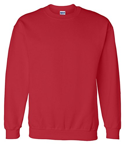 Plain Crewneck Sweatshirt (Gildan - Adult - Crew Neck Sweatshirt Red Small)