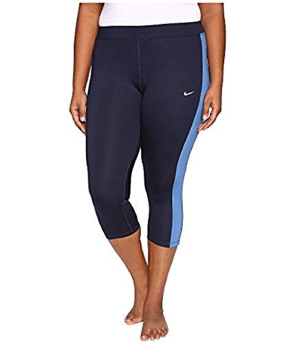 (Nike Plus Size Dri-FIT Essential Crop Running Tights (Light Blue,)