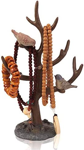 Laishutin Schmuck-Rack Schmuckständer for Ohrringe Armbänder Ringe und Uhren Schmuck Organizer Schmuck-Baum-Halskette Halter-Standplatz Für die Anzeige Schmuck (Color, Size : 10 * 20 * 33cm)