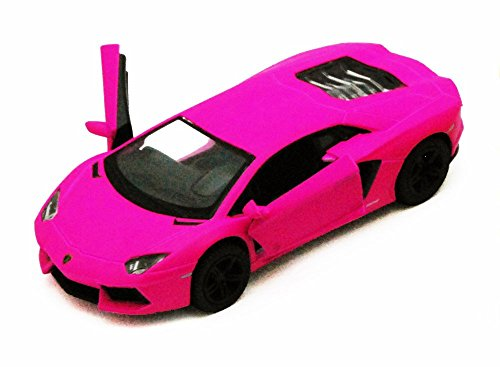 - Kinsmart Lamborghini Aventador LP700-4, Hot Pink 5370D - 1/38 scale Diecast Model Toy Car, but NO BOX