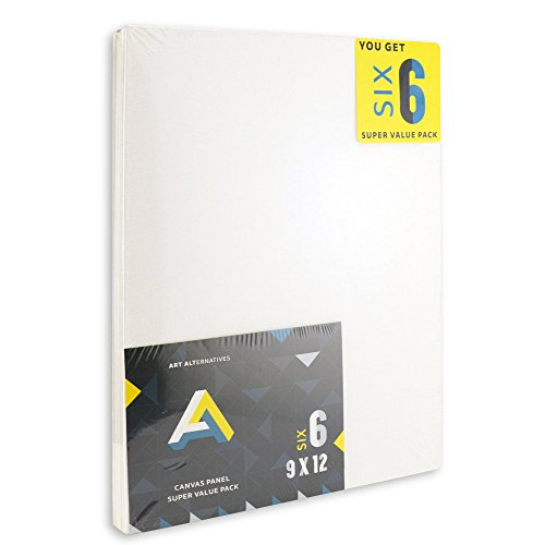 Aa Super Value Canvas Panel 9X12 Pack Of 6 by Art Alternatives