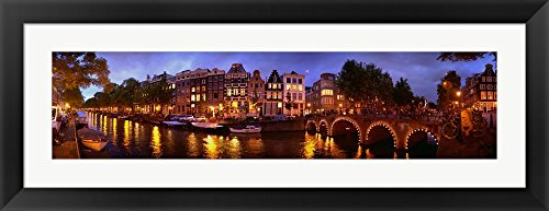 Amsterdam at Dusk, Netherlands by Panoramic Images Framed Art Print