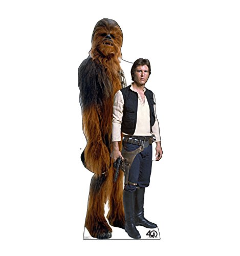 Chewbacca Life - Advanced Graphics Han Solo & Chewbacca Life Size Cardboard Cutout Standup - Star Wars 40th Anniversary
