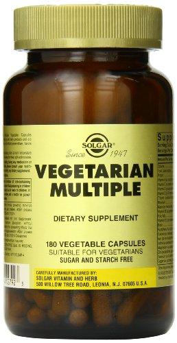 Solgar Vegetarian Multiple Vegetable Capsules, 180 Count For Sale