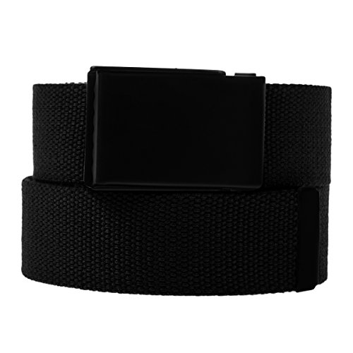 DG Hill Casual Canvas Web Belt For Men Military Style Tactical Flip Top Buckle