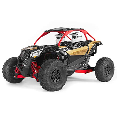 Axial Yeti Jr. Can-Am Maverick X3 RC Rock Racer 4WD Brushed Off-Road Side-by-Side 1/18 Scale RTR (Includes 2.4 Ghz…