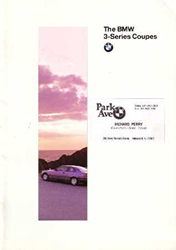1995 BMW 3 Series Coupe Sales Brochure Literature Book Options Specifications (Bmw Sales Brochure)
