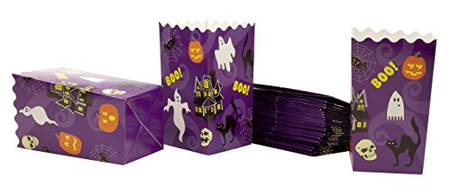 Popcorn Boxes - 100-Pack Halloween Party Mini Paper Popcorn Containers, Party Supplies for Horror Movie Nights, Kids Birthday, Halloween Themed Design, 3.3 x 5.6 x 3.3 Inches for $<!--$15.99-->