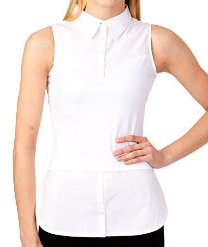 SkinnyShirt Women's Collar + Tails 1X White