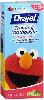 Orajel Toddler Training Toothpaste Fruit Splash 1.50 oz (Pack of 2)