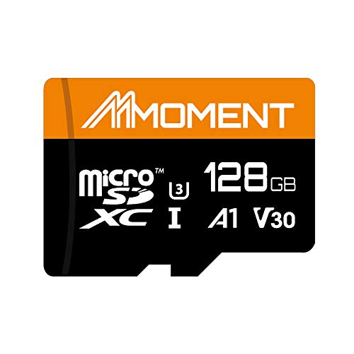 Moment 128GB MicroSDXC Up to 100 Mbps Read Speed, U3/UHS-I Class 10 Speed Rating, V30 Video Speed Class, A1 App Performance Class, 4K UltraHD Photo and Video Capable, Smartphone, Tablet and Cameras