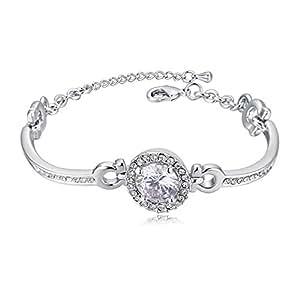 Women's Fashion Bracelet Elegant Rhinestone Inlay Glistening Fashion Jewelry accessory