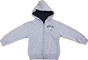 Pittsburgh Steelers PLEDGE Grey Toddlers Full Zip Fleece Hoodie