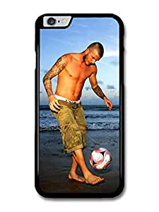 David Beckham Beach Playing Football Player case for iPhone 6 Plus