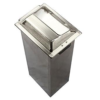 "San Jamar H2000 Stainless Steel In-Counter Minifold Napkin Dispenser, 750 Plus Capacity, 7"" Width x 19-5/8"" Height x 5-1/2"" Depth, Satin Chrome"