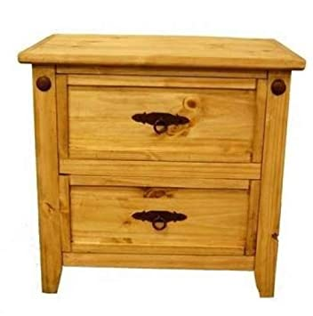 Amazon Com Rustic Santa Fe Nightstand Western Real Wood