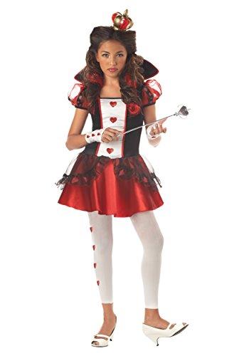 Teen Queen Of Hearts Costumes (Teen Sassy Royal Queen of Hearts Costume Size 9)