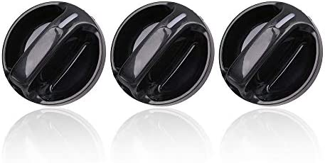 Set of 3 VCCA Air Conditioner Heater Control Switch Knob Fit Toyota Tundra 2000-2006 559050C010 Replaces# 55905-0C010 AC Climate Control Knob