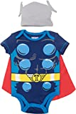 Marvel Avengers Thor Baby Boys' Costume Bodysuit with Cape and Hat Blue