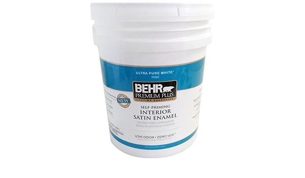 5 Gal Satin Enamel Interior Paint Amazon Com