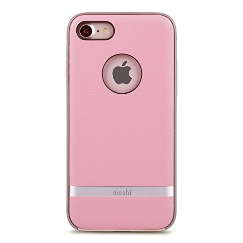 Moshi Napa Vegan Leather Case for iPhone 7/8, Melrose Pink