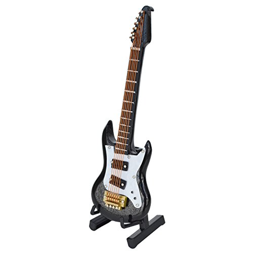 WOGOD Miniature Guitar Wooden Instrument Model- Home Decor 、Christmas and Music Lovers Best Gift (MG-246)