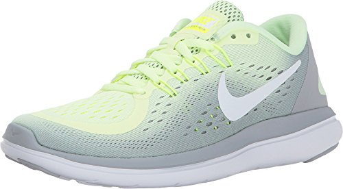 (Nike Womens Flex 2017 Running Shoes Barely Volt/White-Wolf Grey 8.5)