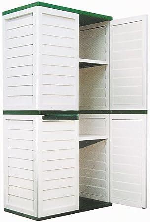 Kunststoff-Schrank für Garten+Werkstatt, 180x75x50cm: Amazon.de: Garten