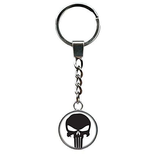 Superheroes Brand Punisher Skull Keychain Key Ring Marvel Comics Movies Cartoon Superhero Logo Theme Premium Quality Detailed Cosplay Jewelry Gift (Skull Kid Zelda Costume)
