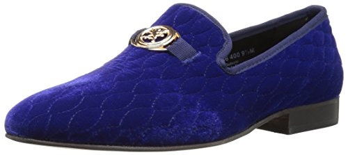 STACY ADAMS Men's Valet Velour BIT Slip-ON Loafer, Blue 9 M US (Loafers Blue)