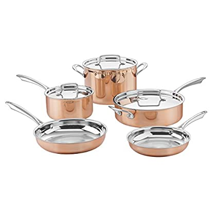Image of Cuisinart CTPP-8 Copper Collection Cookware Set, Medium Home and Kitchen