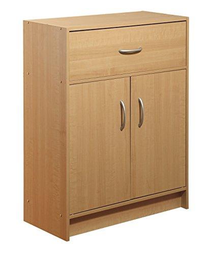 2-Door with Drawer Organizer, Maple - Maple Stackable Storage Organizer
