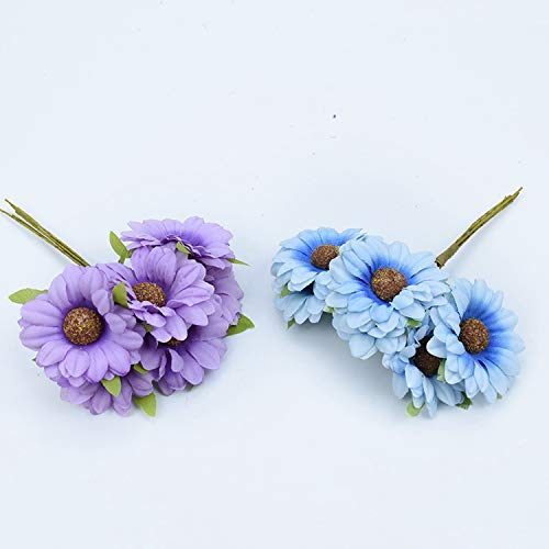 Tokyo-Summer-6Pcs-Silk-Sunflower-Bouquet-Decorative-Christmas-Wreaths-DIY-Gifts-Candy-Box-Fake-Plants-Artificial-Daisy-Flowers-for-Home-DecorYellow