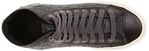 Pf Flyers Centre Hommes Salut Tweed Mode Sneaker Corbeau