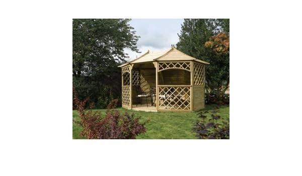 Sandringham octogonal cenador de jardín – Natural.: Amazon.es: Jardín