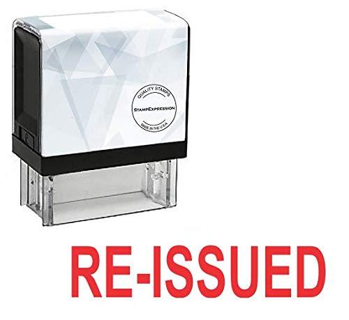 RE-ISSUED オフィス用セルフインク式ゴムスタンプ - レッドインク (A-5591)   B07CMLHNRV
