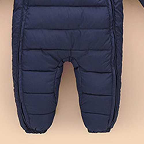Winter Snowsuit Down 6 Months Happy Jumpsuit Navy Thick Jacket Puffer Cherry Romper Hooded Warm Outerwear blue 48 Baby twwvq8g