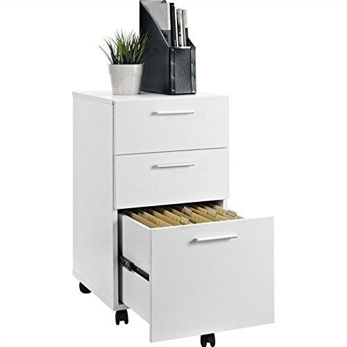 Ameriwood Home Princeton Mobile File Cabinet, White