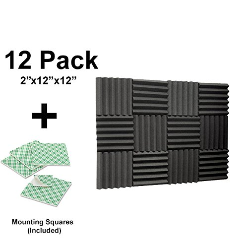 12-pk-2x12x12-soundproofing-foam-acoustic-tiles-studio-foam-sound-wedges-with-24-double-sided-adhesi