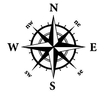 Generic Kompass Aufkleber In Verschiedenen Größen Windrose Aufkleber Für Caravan Wohnmobil Wohnwagen Auto Oder Als Wand Tattoo 353 30x30cm