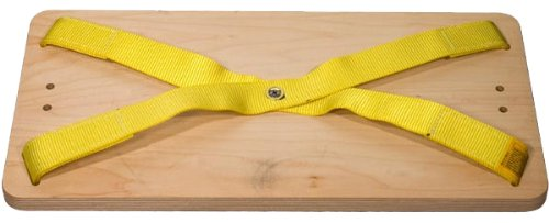 3M DBI-SALA 1001140 Workseat, with 12''x24''x1'' Rigid Board and Suspension D-Ring, Size Universal, Yellow