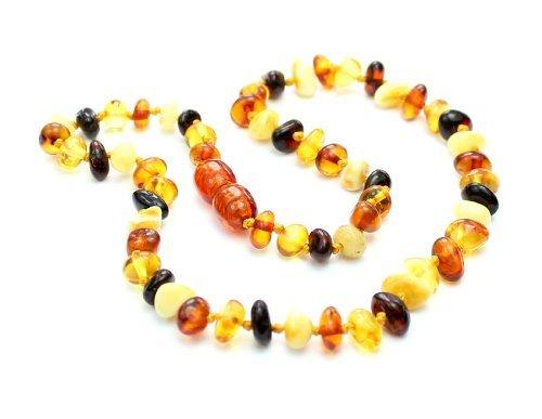 - SilverAmber Genuine Baltic Amber Teething Necklace - Multi Colour - NE0029