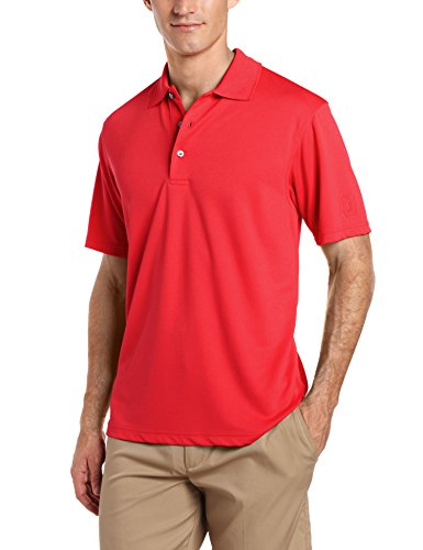 - PGA TOUR Men's Short Sleeve Airflux Solid Polo Shirt, Chili Pepper, XL