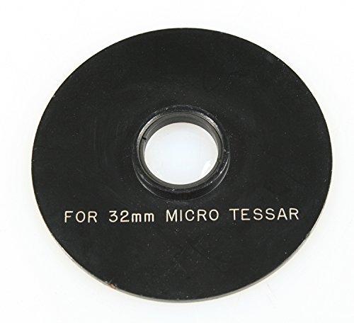 - MICROSCOPE PART OBJECTIVE BAUSCH LOMB MICRO TESSAR 32MM OPTICS LEN PLATE