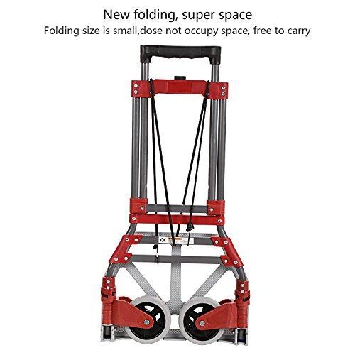 Coocheer-Aluminum-Folding-Two-wheel-Hand-TruckCartDollies-Bearing-165-LBS-With-Rope