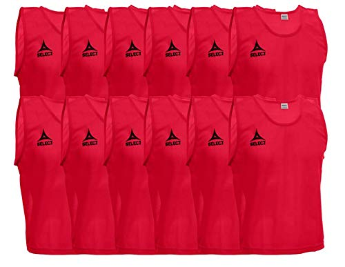 Select 2019 Scrimmage Vest (Pack of 12) Youth, Red ()